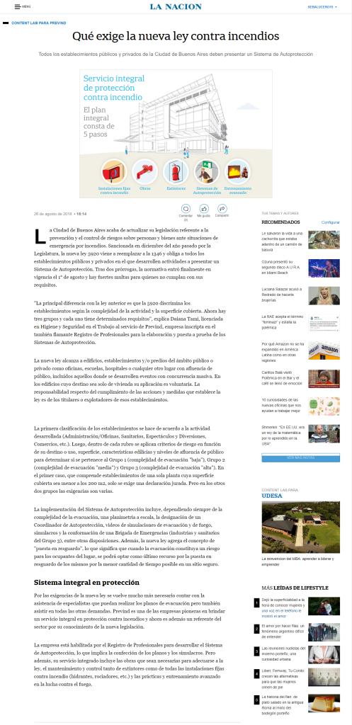 pageshot of 'Qu exige la nueva ley contra incendios - LA NACION' @ 2018-...(2)